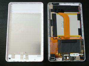 Bilder vom offenen Gerät und dem Inneren